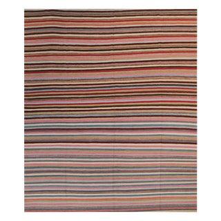 Vintage Turkish Striped Flatweave - 8′2″ × 11′1″