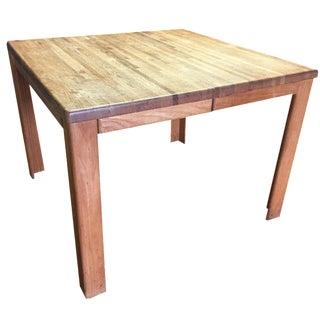Oak Butcher Block Dining Table