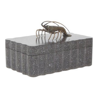 Mid century Painted Wooden Lobster Box