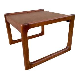 Vintage Refinished Solid Walnut Side Table