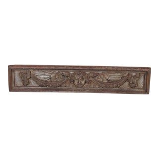 19th Century French Carved Wood Plaque