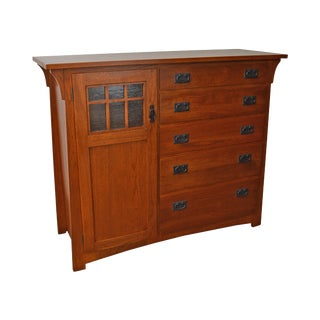 Mission Oak Stickley Style Mans Chest