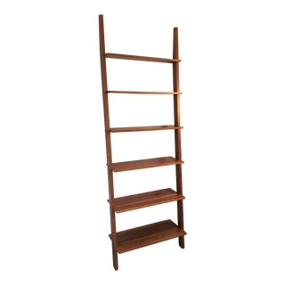 Room and Board Walnut Pisa Leaning Bookshelves - a Pair