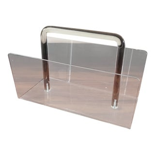 Hollis Jones Mid-Century Lucite Magazine Rack