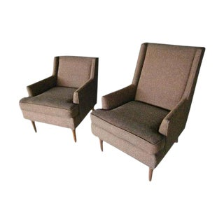 """Mid-Century """"His & Her"""" Chairs - Pair"""
