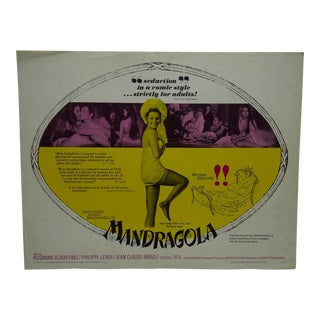 "Vintage Movie Poster ""Mandragola"" by Rosanna Schiaffino, 1966"