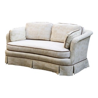 Sherrill Mid Century Style Tuxedo Sofa in Cream