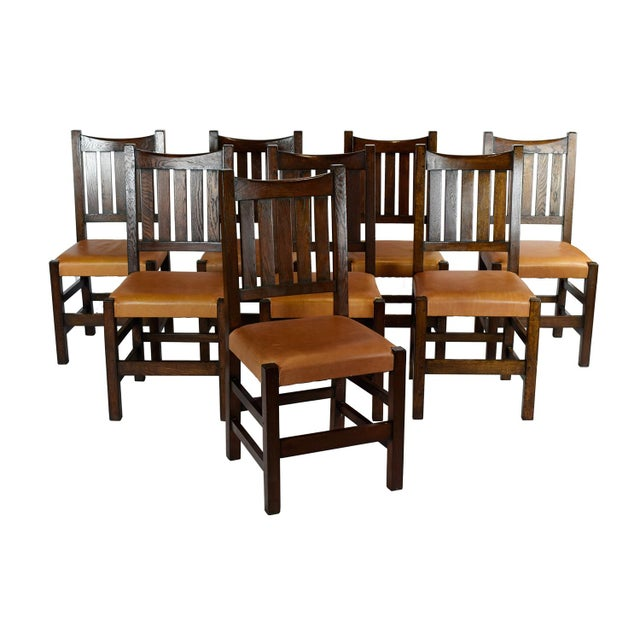 Mission Limbert Style Dining Chairs - 8 - Image 1 of 5