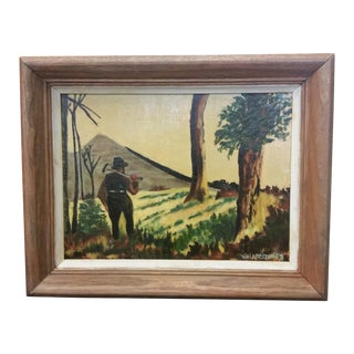 Viola Roston Signed Oil Painting, 1957