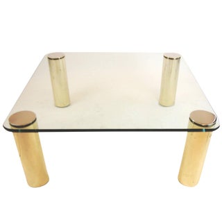 Pace Collection Brass and Glass Coffee Table