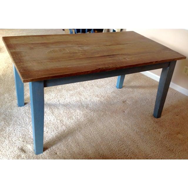 Blue Farmhouse Table - Image 5 of 8