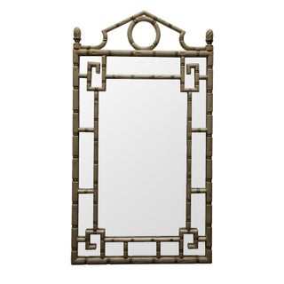 Hollywood Regency Style Faux Bamboo Mirror