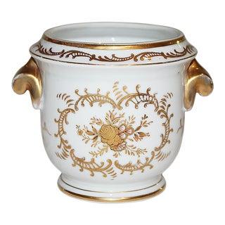 Gilded Porcelain Cachepot