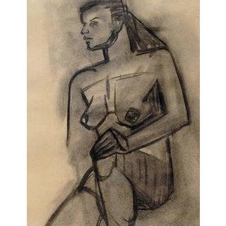 1949 Emily Farnham Modernist Nude Drawing