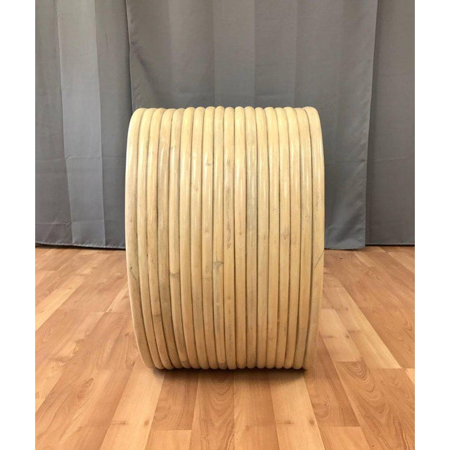 Vintage Rattan Scroll Console Table - Image 7 of 11