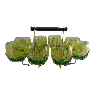 Vintage Mid-Century Roly Poly Glasses - 9 Pieces