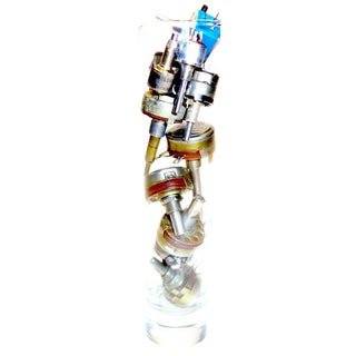 TV Electronic Potentiometer Sculpture. Circa Mid-Century. In Glass Vase