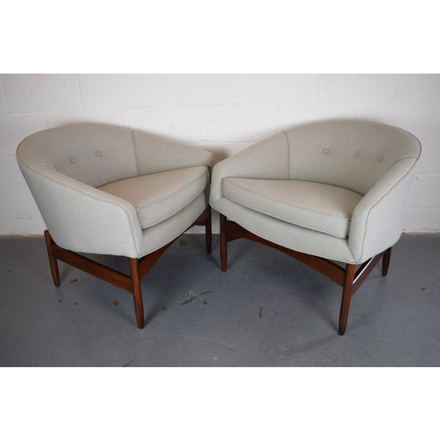 Image of Lawrence Peabody Mid-Century Lounge Chairs - Pair