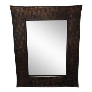 Woven Steel Frame Mirror