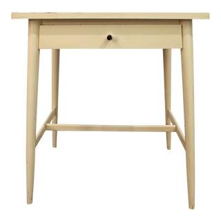 Paul McCobb Planner Group Mid-Century Danish Modern White Nightstand/End Table