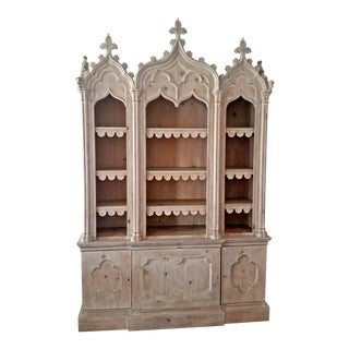 Neo Gothic Revival Carved Cabinet
