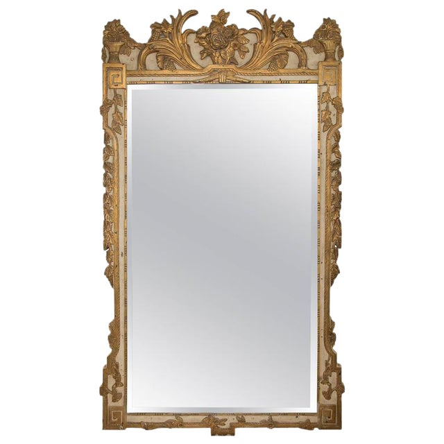 Louis XVI Style Parcel-Gilt and Cream-Painted Wall Mirror - Image 1 of 8