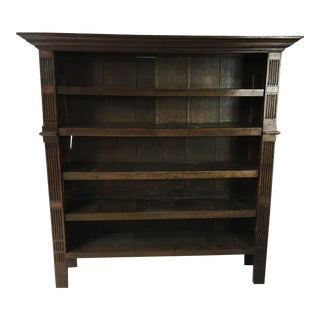 19th C. English Oak Bookcase