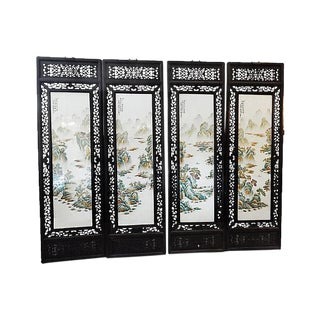 Chinoiserie Porcelain Panels - Set of 4