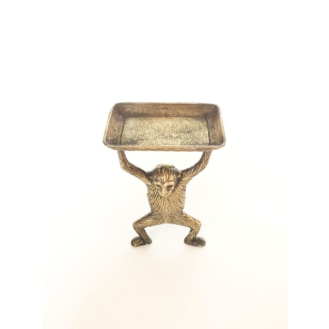 Vintage Brass Monkey Business Card or Soap Dish - Image 4 of 5