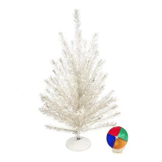 Aluminum 6 ft. Tree with Color Wheel Light