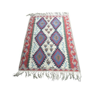 Vintage Turkish Kilim Rug - 4′ × 6′