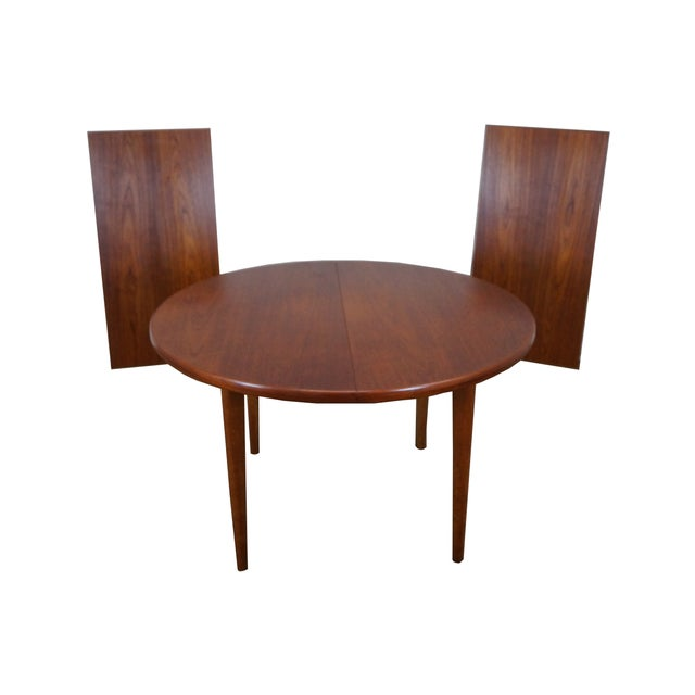 Vintage Round Teak Danish Dining Table Chairish