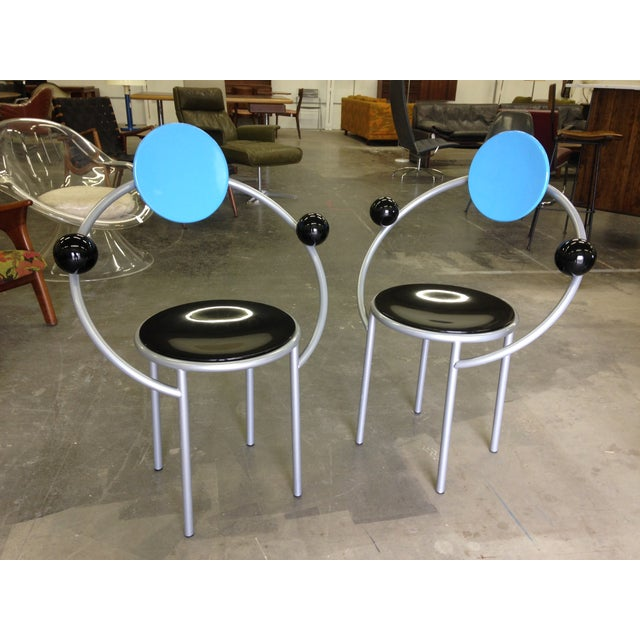 Michele De Lucchi Memphis First Chairs - Pair - Image 5 of 9