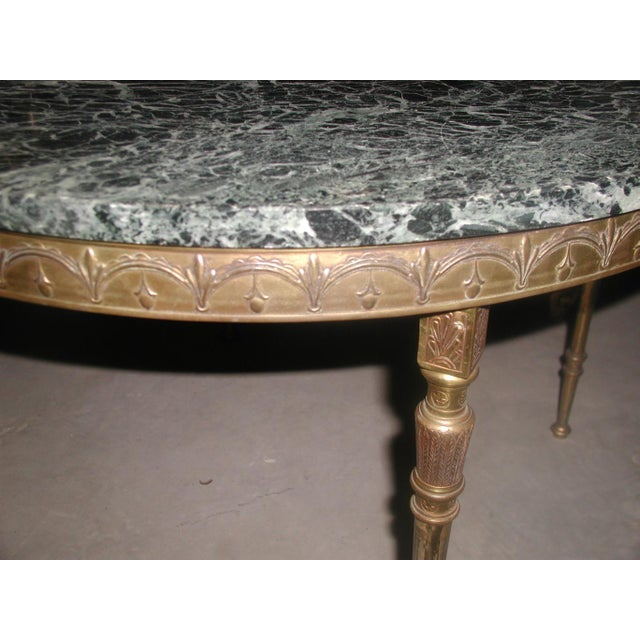 Bronze Neoclassical Marble & Mirror Coffee Table - Image 9 of 10