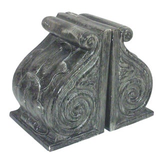 Plaster Corbel Bookends- A Pair