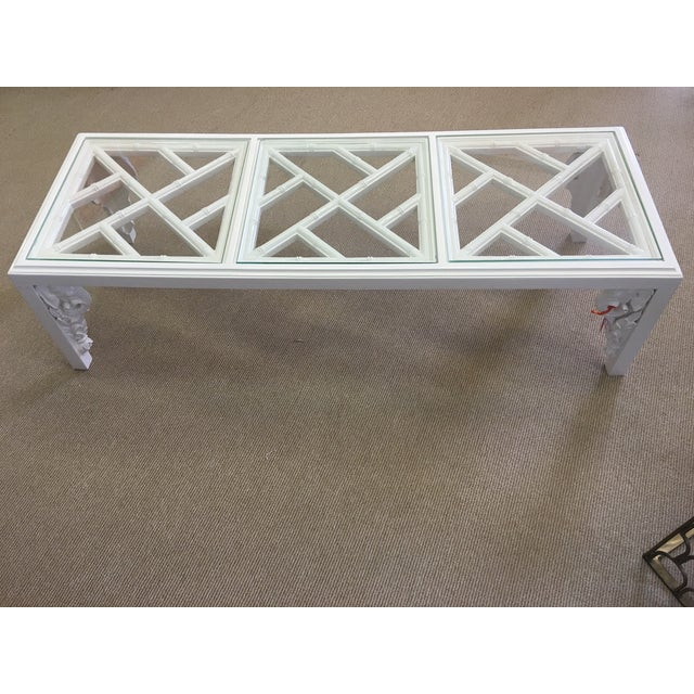Vintage White Lacquer Elephant Coffee Table - Image 2 of 6