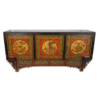 Antique Floral Gansu Sideboard