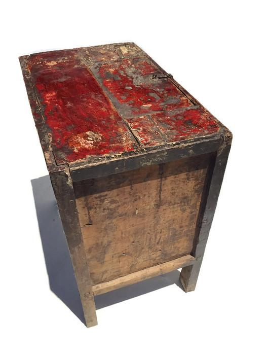 Hand Painted Console Table Antique Mongolian Storage Chest Hand Painted  Tibetan Console