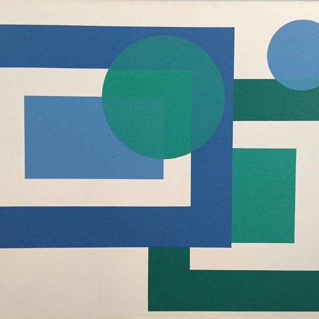 1971 Hard Edge Abstract Fredrick Gaertner - Image 2 of 10