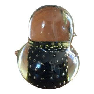 Mid Century Murano Glass Bird Paperweight