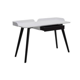 White Gloss and Dark Oak Desk
