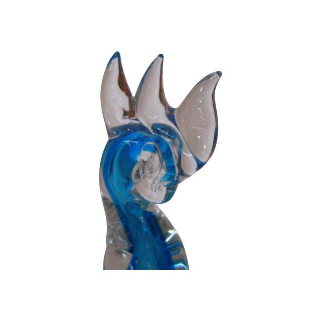 Image of Murano Blue Glass Cockatoos - A Pair