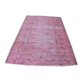 "Turkish Pink Overdyed Rug - 5'4"" x 8'3"""