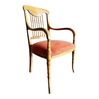 Antique Chair W/ Spindle Back & Turned Legs