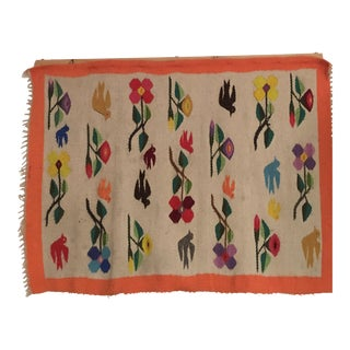Colorful Woven Vintage Rug