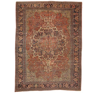 Exceptional Antique 19th Century Persian Sarouk Carpet
