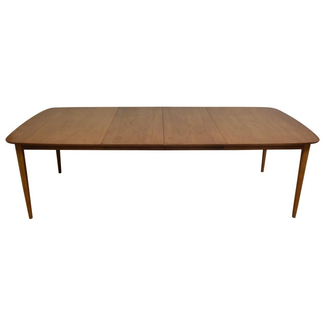 Image of Bleached Walnut Mid Century Dining Table