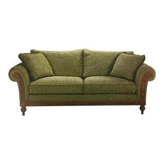 Ethan Allen Green Pratt Sofa