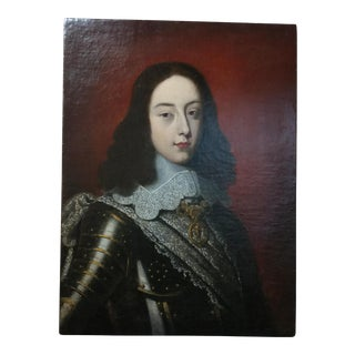 17th Century Old Master Portrait of a Cavalier Oil Painting