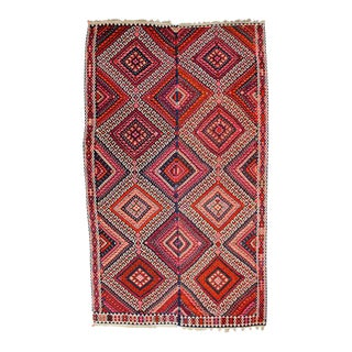 1910s Vintage Turkish Kilim Rug - 6' x 10'
